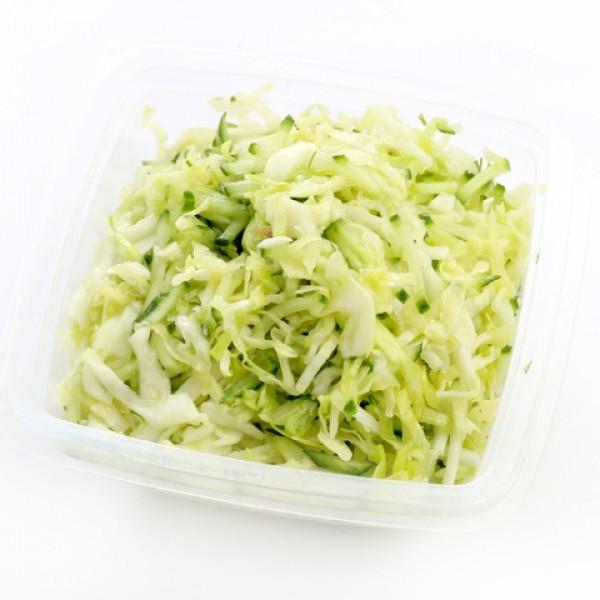 Салат из свежей капусты и свежего огурца рецепт с